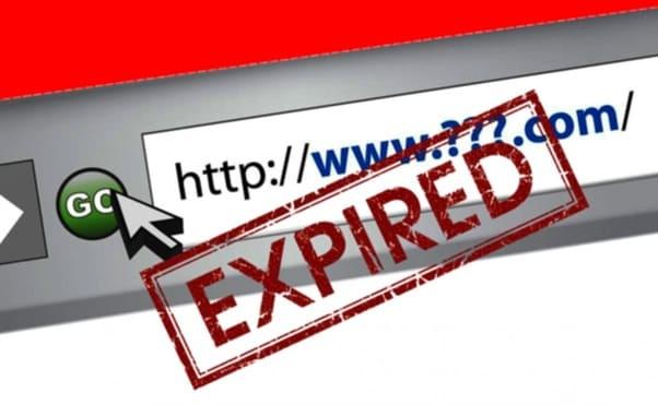 expired domain website